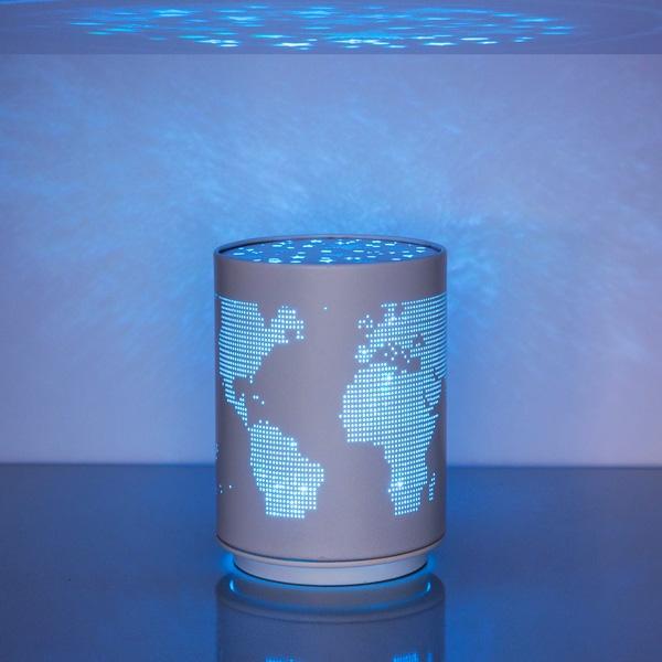 Világtérképes LED lámpa