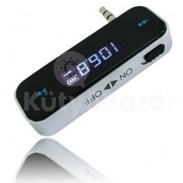 FM Transmitter telefonokhoz, 3,5 mm jack csatlakozóval