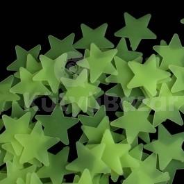 Világítós csillag gyerekszoba dekoráció 100 darabos szett
