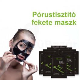 Pórustisztító fekete maszk