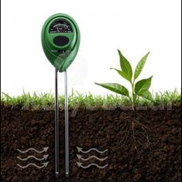 3 az 1-ben talajvizsgáló kertészeti eszköz