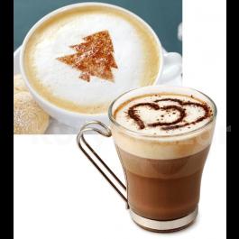 Kávé és Cappuccino díszítő sablonkészlet