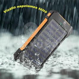 8000 mAh-s vízálló Power bank mobiltelefon töltő