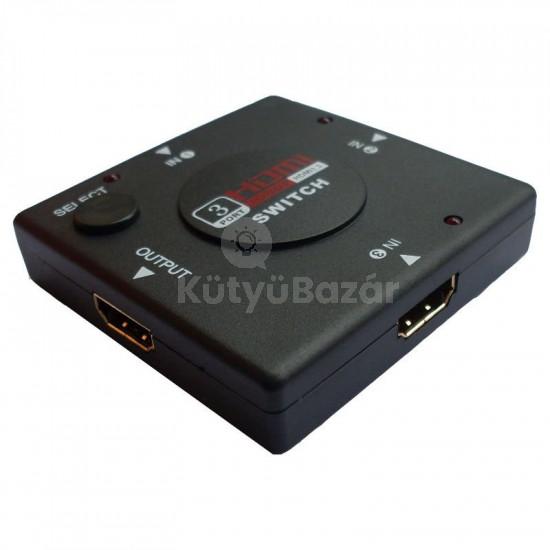 HDMI switcher elosztó 3 port HDMI switch