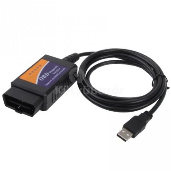 Univerzális hibakódolvasó USB OBD2 Autódiagnosztikai készülék
