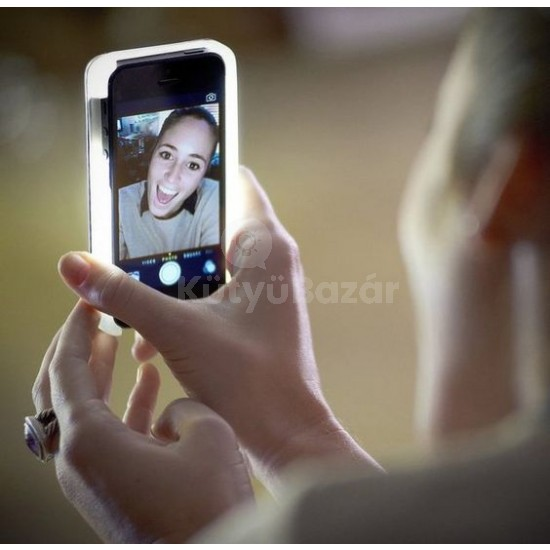 Világítós szelfi tok iPhone telefonhoz - Utolsó darabok!
