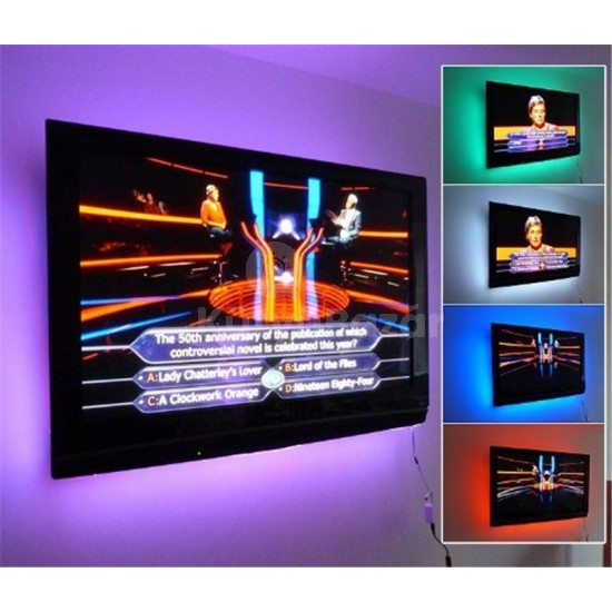 Hangulatvilágító LED szalag TV- re, Monitorra