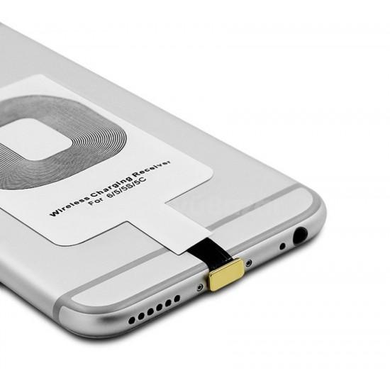 QI hátlap adapter iPhone 5/5S  készülékekhez ajándék tokkal