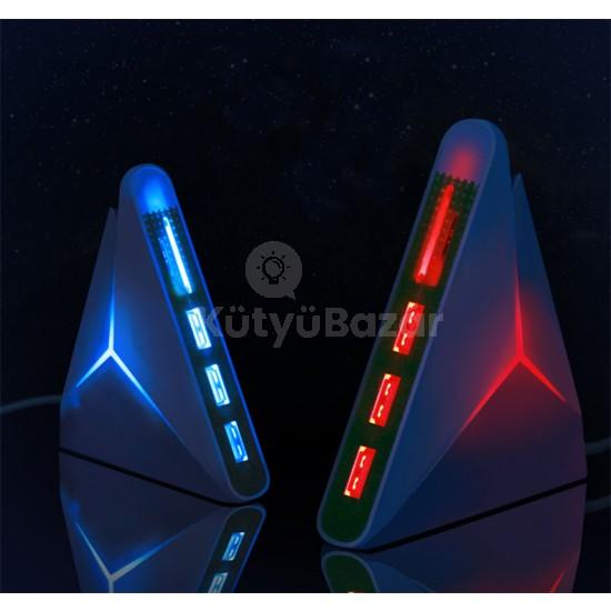 3 az 1-ben USB HUB 3 x USB 2.0 beépített SD/TF kártyaolvasóval