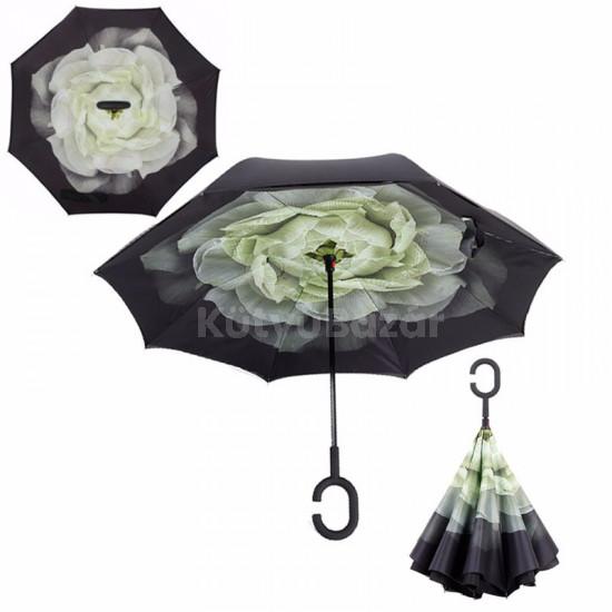 Fordított esernyő mintával