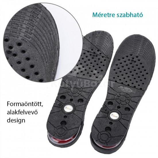 Sarokemelő talpbetét, sarokemelő betét cipőbe