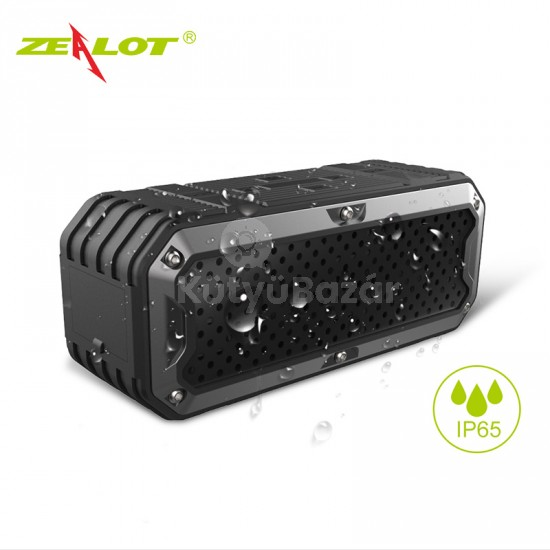 Zealot S6 kinti vízálló bluetooth hangszóró Power Bankkal