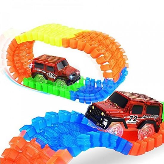 Wonder Race autópálya piros kisautóval