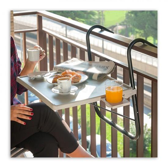Erkélyre akasztható asztal