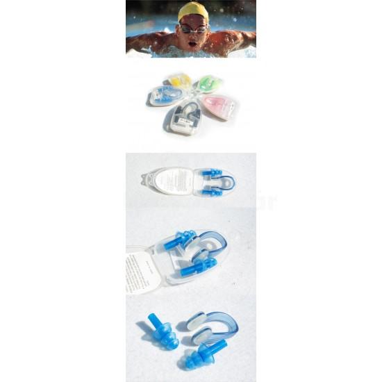 Szilikonos orrcsipesz és füldugó úszáshoz