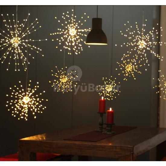 200 LED-es napelemes tűzijáték hatású dekoráció