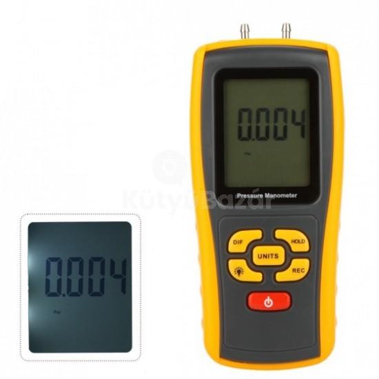 Hordozható USB digitális LCD nyomásmérő