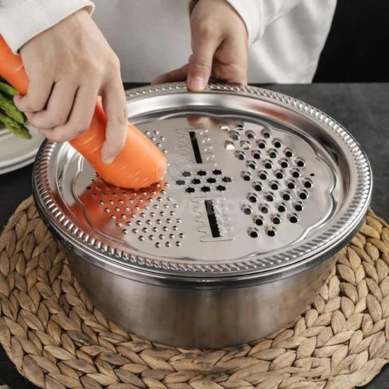 Keverőtál kiegészítőkkel (rozsdamentes acél)