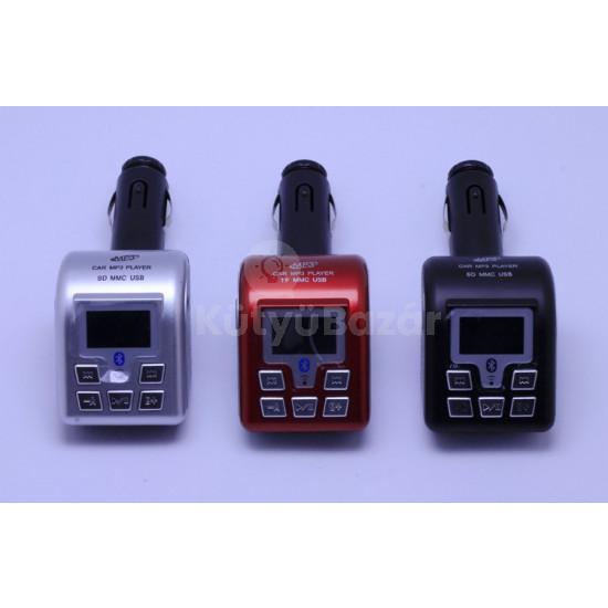 Bluetooth fm transmitter mp3 autós kihangosító