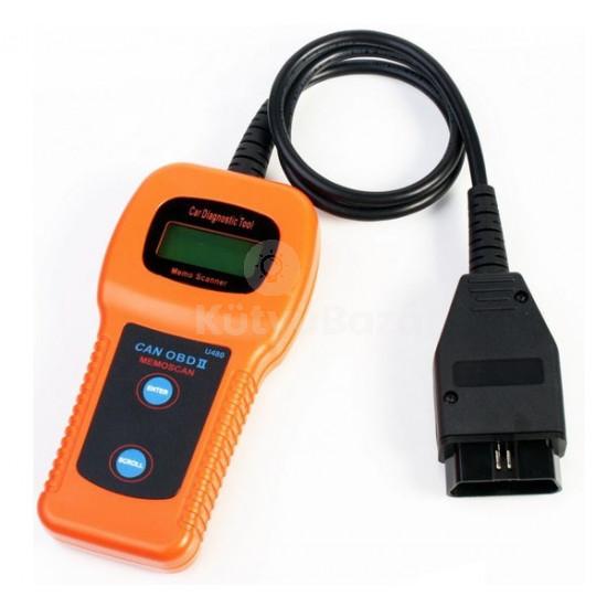U480 univerzális kézi autódiagnosztikai interfész OBD2 OBD 2 Multiprotokoll hibakódolvasó