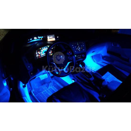 Szivargyújtóról működő kék belső világítás autóba