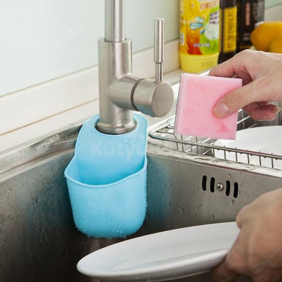 Kreatív mosogatócsapra akasztható tároló