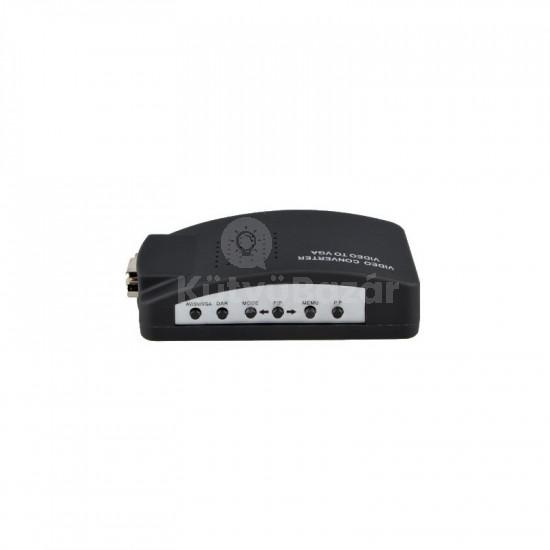TV VGA átalakító RCA átalakító BNC SVIDEO VGA SCART konverter