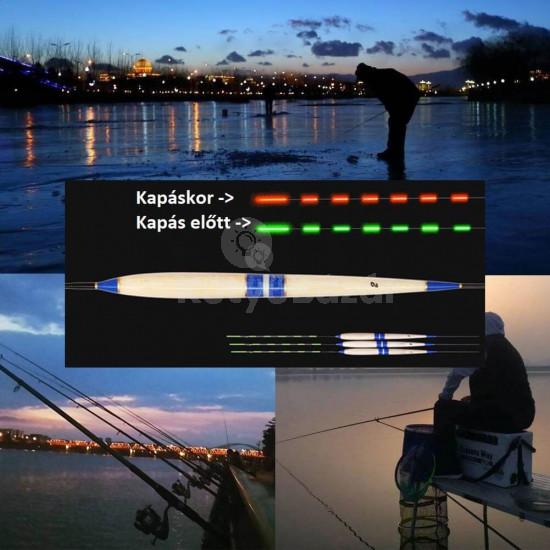 Okos kapásjelző, éjszakai úszó horgászoknak - Ajándék elemmel