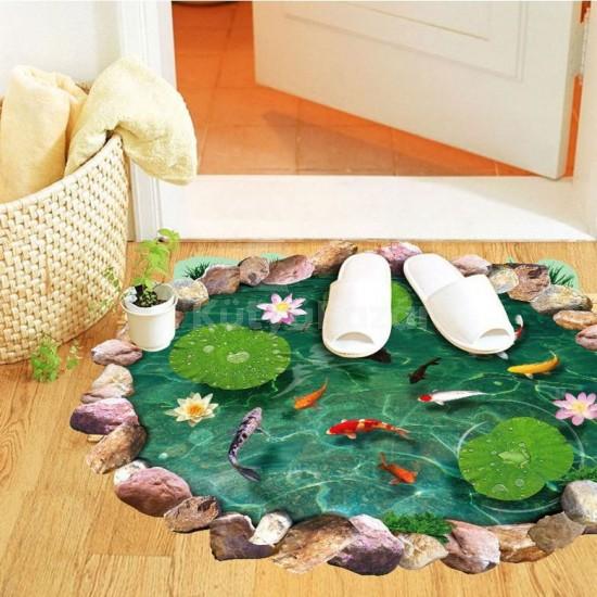 Kerti tó mintás padlódekoráció