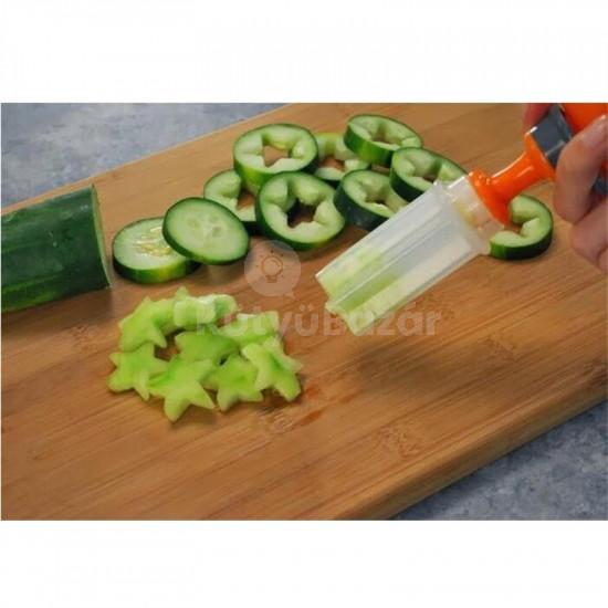 Zöldség, Gyümölcs Dekoráció Készítő Szett