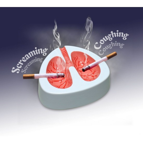 Köhögő hamutartó Tüdő hamutál