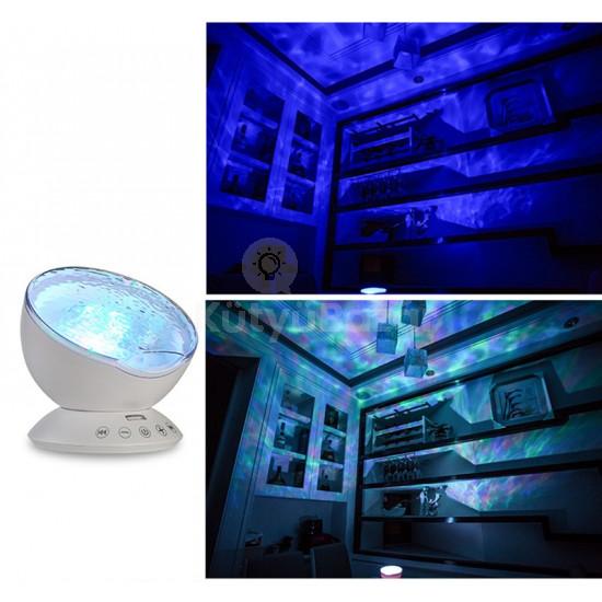Projektoros lámpa, óceán hangulatlámpa, dekorlámpa