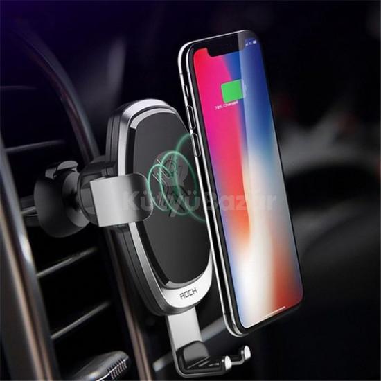 QI töltős autós telefontartó
