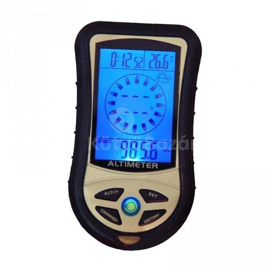 Barometer barométer légnyomásmérő magasságmérő altimeter digitális iránytű túrázóknak
