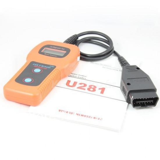 U281 VW AUDI SEAT SKODA VAG kézi autódiagnosztikai ABS légzsák váltó műszer