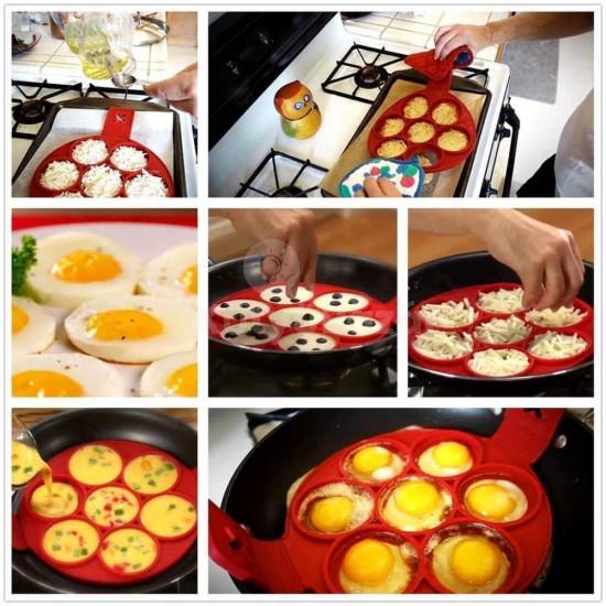 Szilikon tojás- és palacsintasütő forma