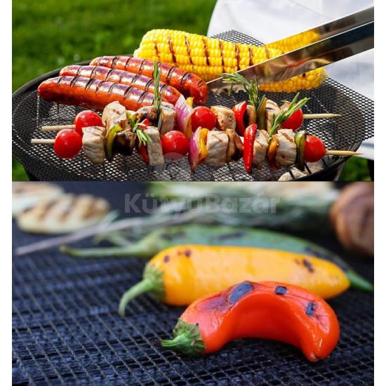 Tapadásmentes BBQ grill háló