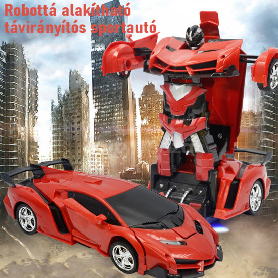 Robottá alakítható távirányítós sportautó