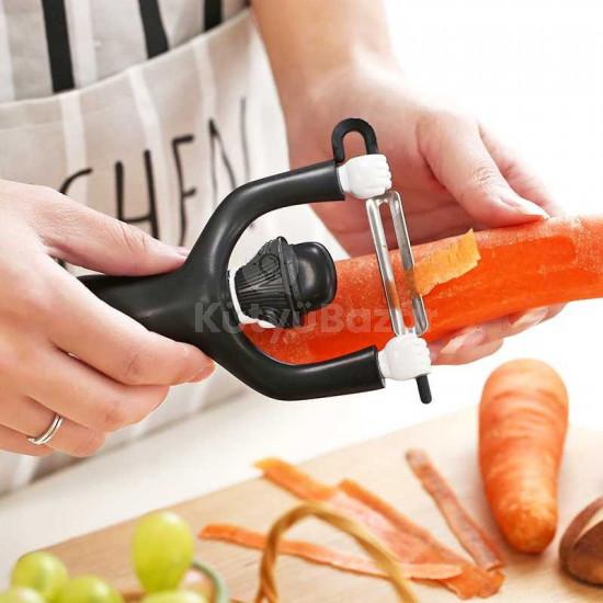 Kreatív zöldséghámozó