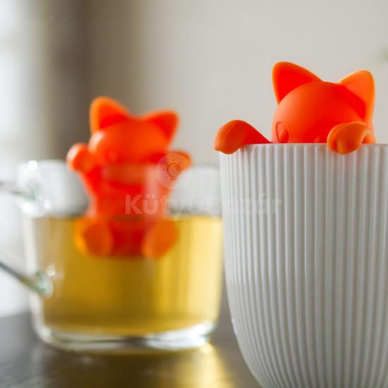 Teatojás, szilikon teatojás, szilikon teafilter (cicás)