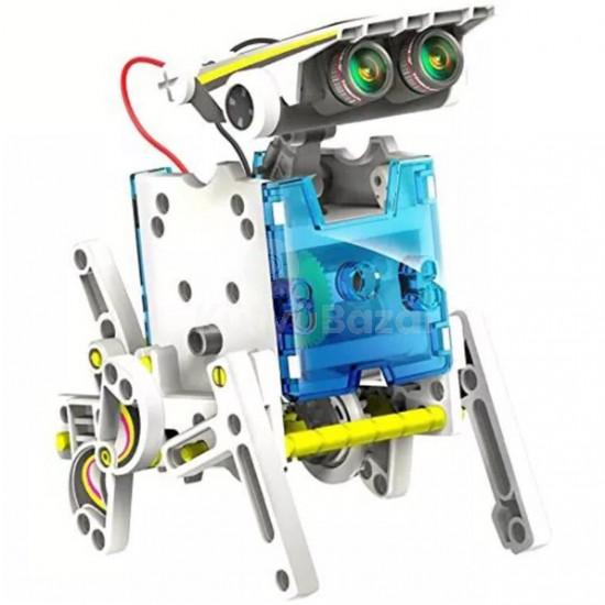 13 az 1-ben napelemes robot
