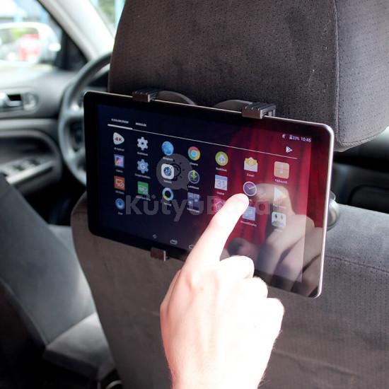 Univerzális fejtámlára szerelhető autós Tablet PC tartó