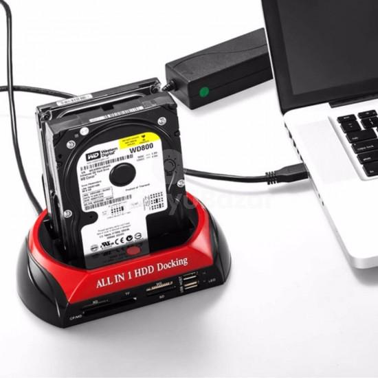 USB 2.0 2.5'/3.5' SATA merevlemez HDD dokkoló