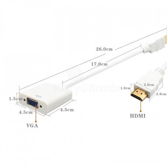 HDMI VGA átalakító kábel, HDMI VGA adapter
