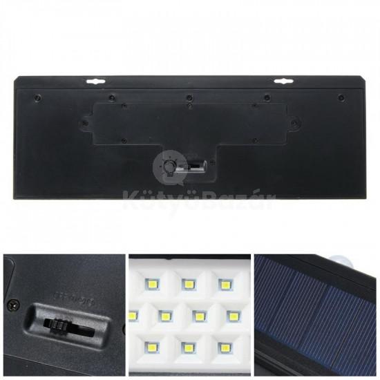 Hasta mozgásérzékelős dizájnos napelemes kültéri lámpa