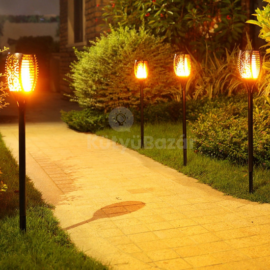 Napelemes tűzhatású LED fáklya