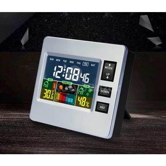 Multifunkciós LCD kijelzős időjárás állomás és óra