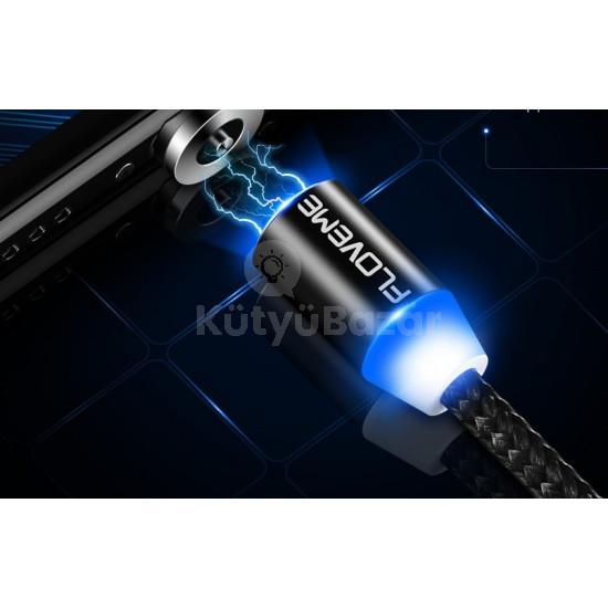 Mágneses, 1 méteres világító lightning kábel