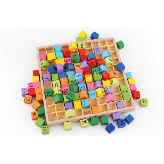 Szorzótábla gyakorlás, matematikai játék, fajáték