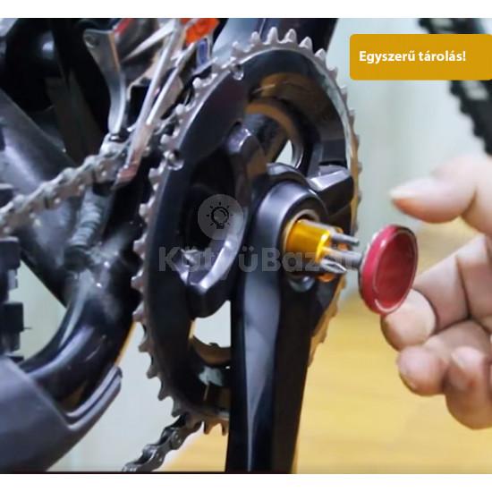 Multifunkciós hordozható csavarhúzó készlet biciklihez